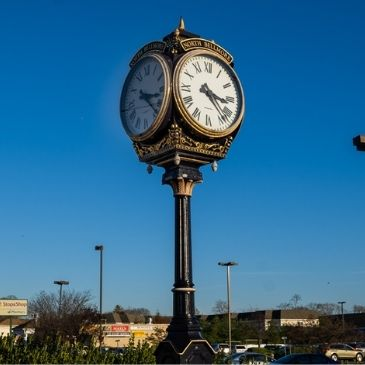 The clock in downtown North Bellmore